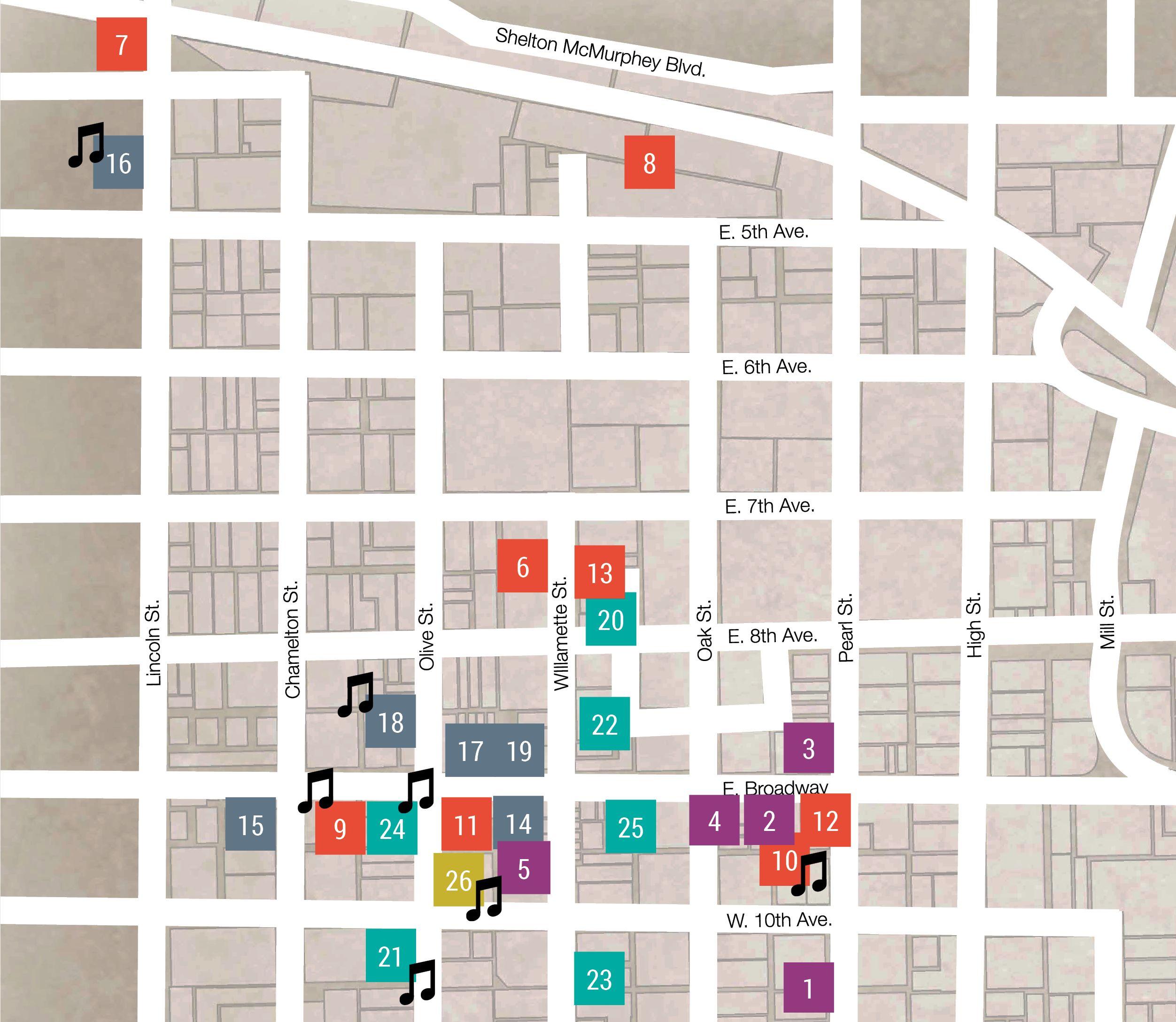 February 2016 ArtWalk map