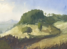 John Holdway, Inviting Path, watercolor on paper, Oregon Art Supply