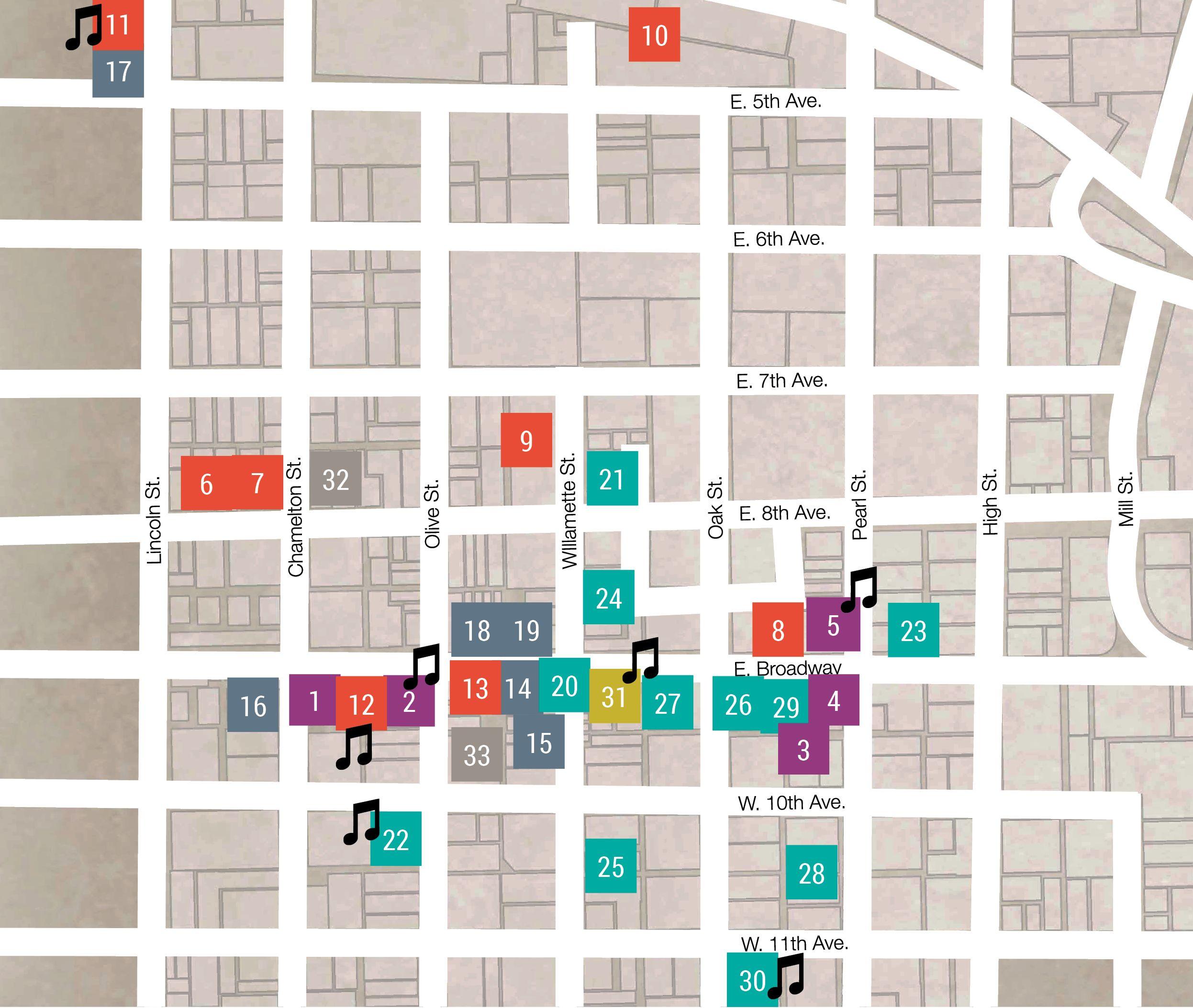 July ArtWalk map