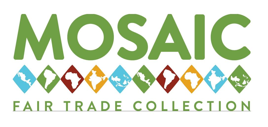 Mosaic logo with a line