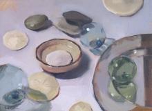 Sarah Sedwick, The Mirror Plate,  9x12, Oregon Art Supply