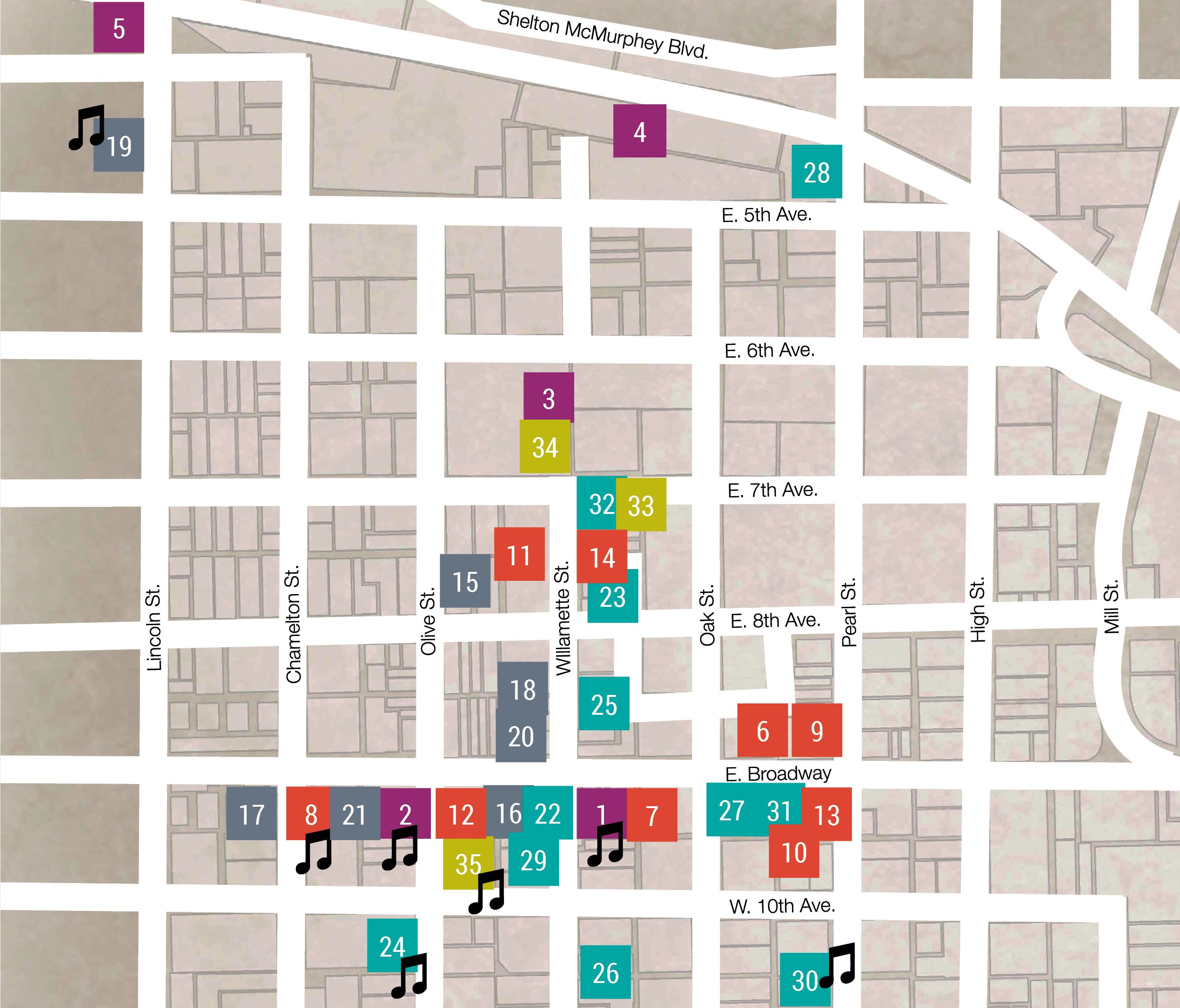 September ArtWalk map