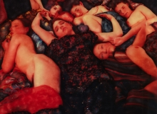 Steve La Riccia image, The Virgin, SX-70 Polaroid Manipulation, after Gustav Klimt The Virgin, Part of the Artistic Echoes theme show in December, The New Zone Gallery