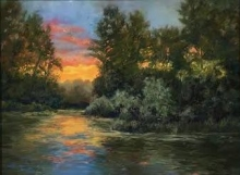 Diane Lewis, Delta Ponds, pastel
