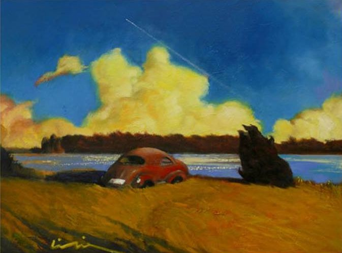 Li Tie, Rising Cloud, oil on canvas, White Lotus Gallery