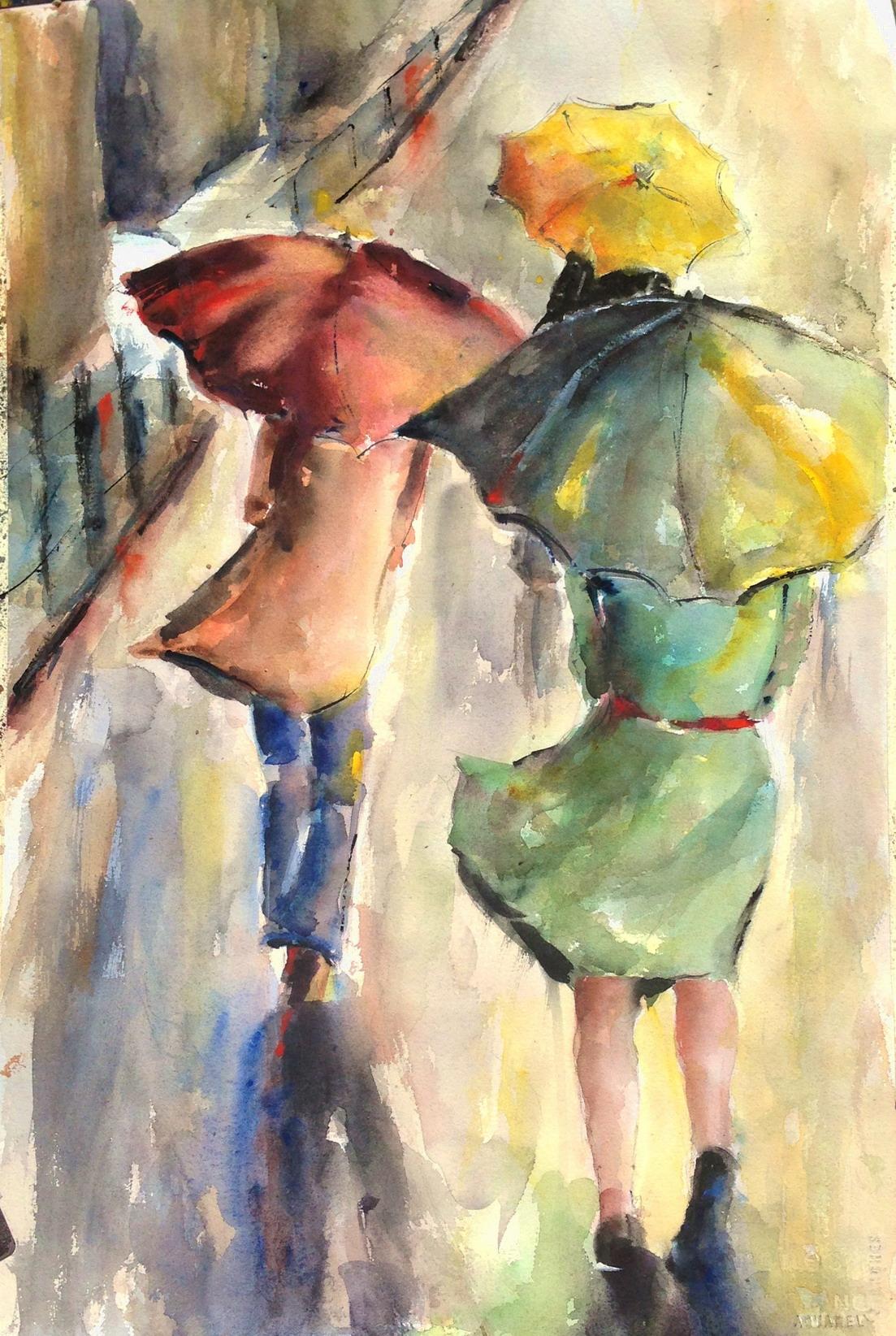 Demetra Kalams, watercolor, The New Zone Gallery 2
